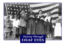 "Photo from 1918 showing St. Rita students signing the Star Spangled Banner.  Click photo to visit Gallaudet University's ""History Through Deaf Eyes"" series."