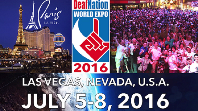 Plan Early to Attend Deaf World Expo in Las Vegas in 2016
