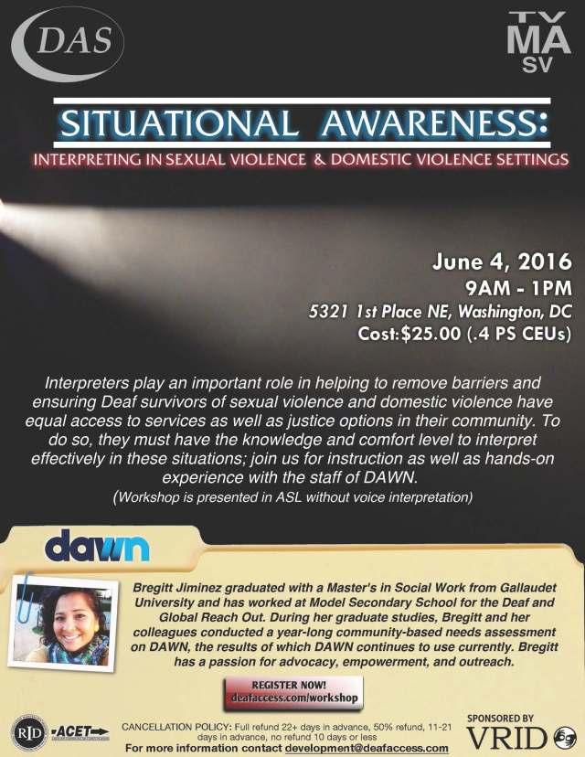 SituationalAwarenessWorkshopDAS